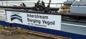 Bord voor Interstream Barging Vegoil